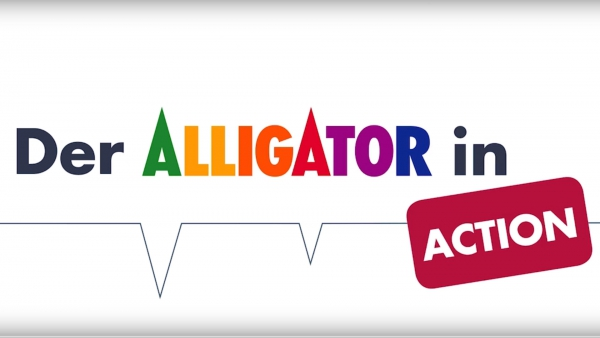 Der Alligator in Action - Leichtspachtel grob + Spachtelvlies